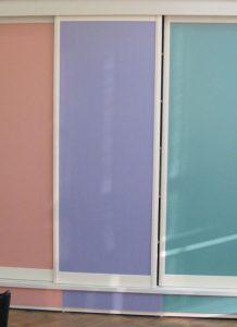 ארון הזזה צבעוני